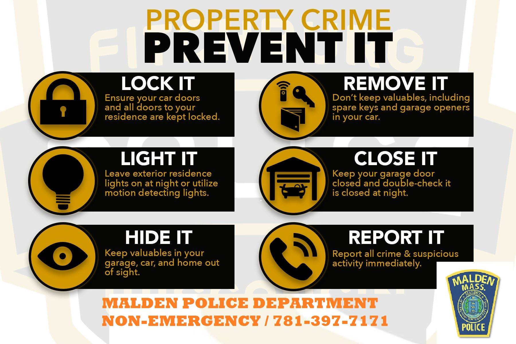 Property Crime Prevention Tips