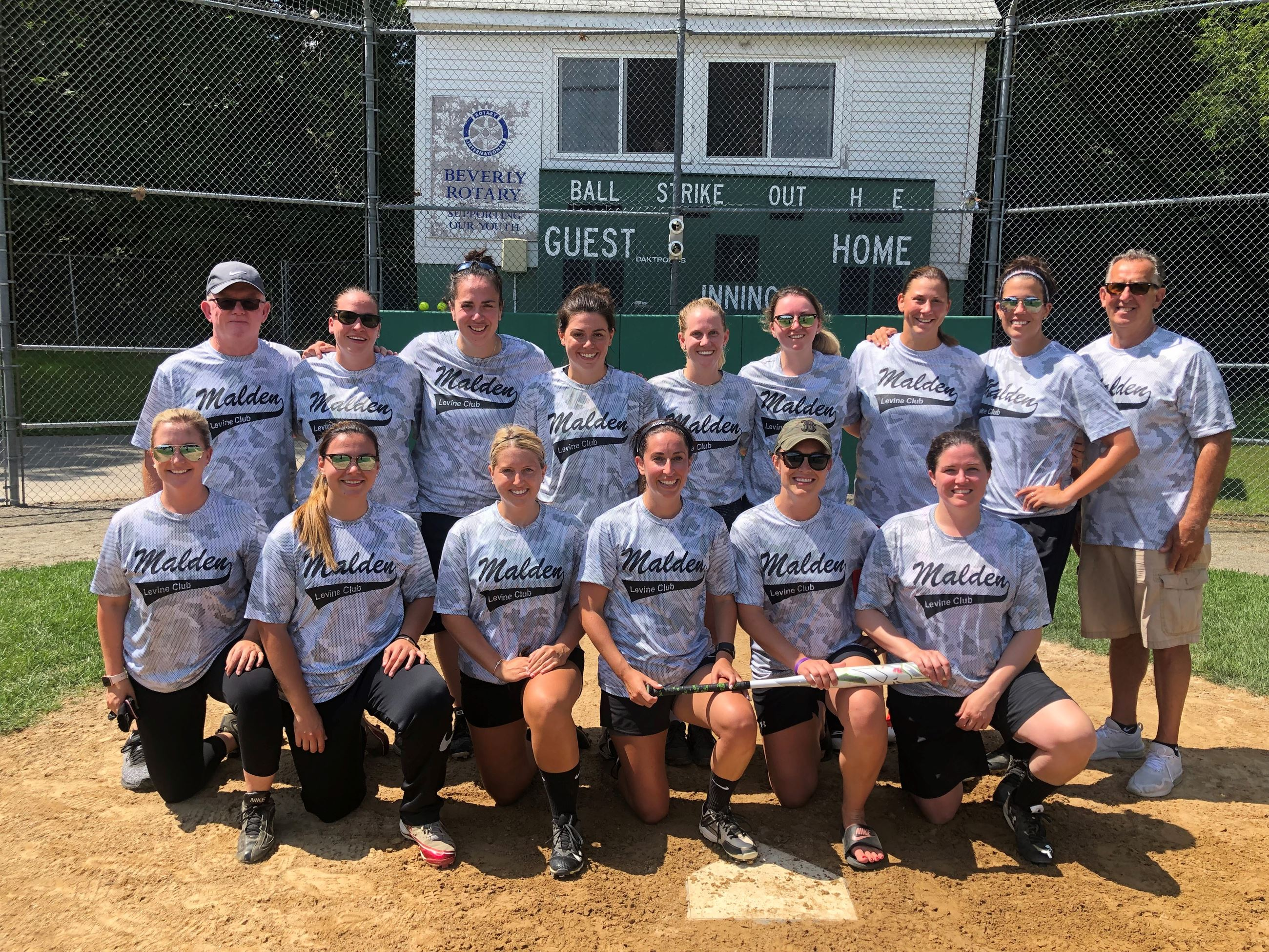 Levine Club Softball Tournament Team