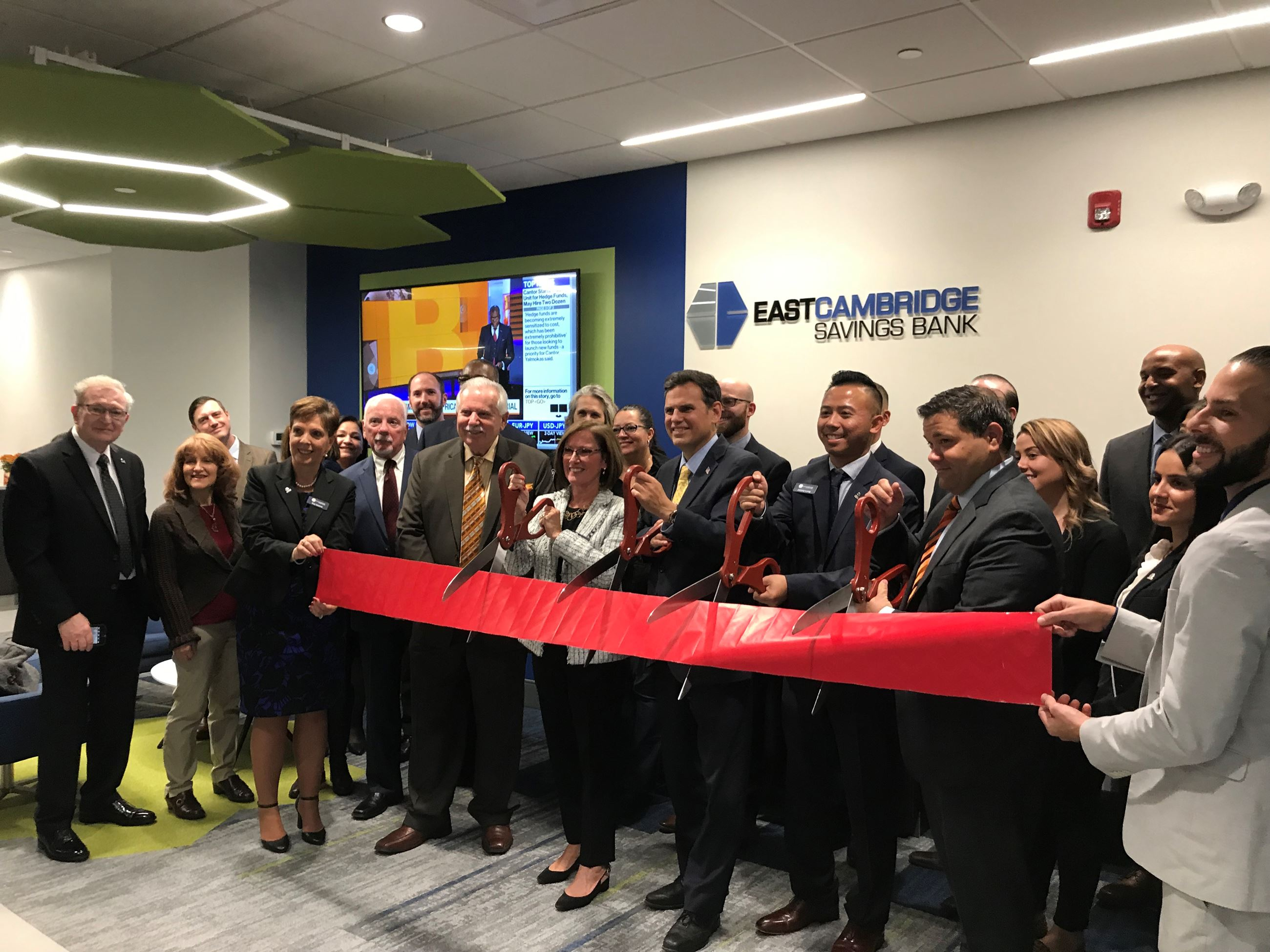 East Cambridge Savings Bank Ribbon Cutting