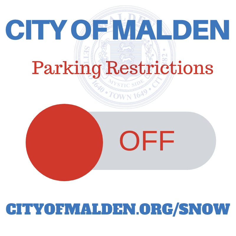 City of Malden Winter Parking Restrictions Off