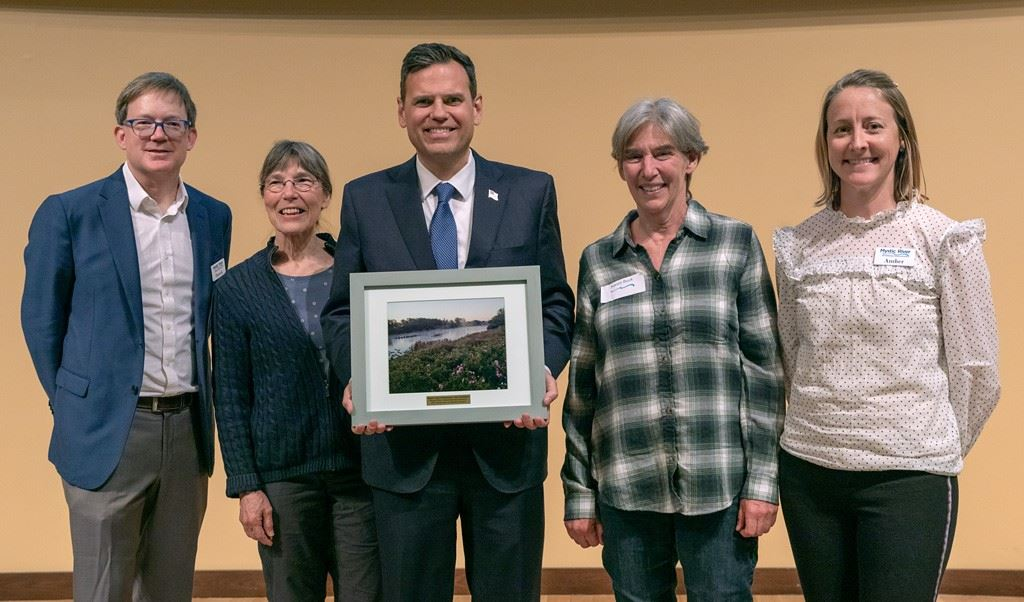 MWRA Presents Mayor Christenson with award