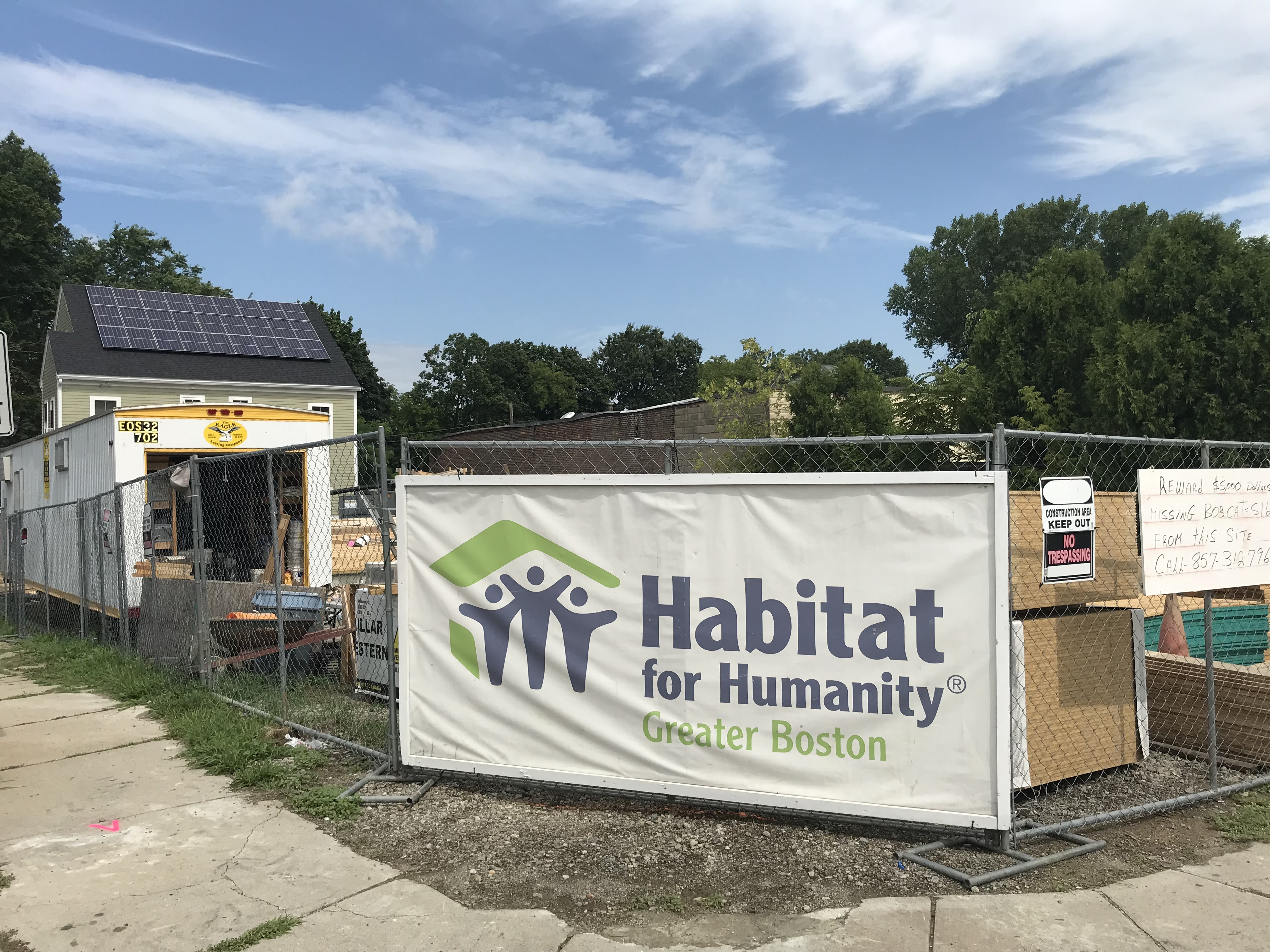 Habitat for Humanity Sign at Worksite