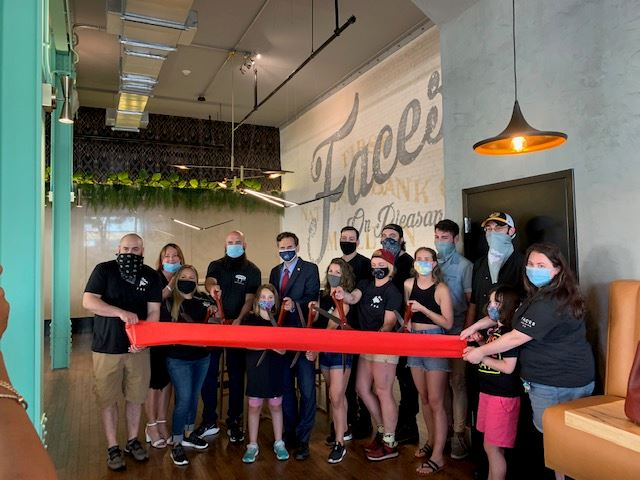Ribbon Cutting of Faces on Pleasant
