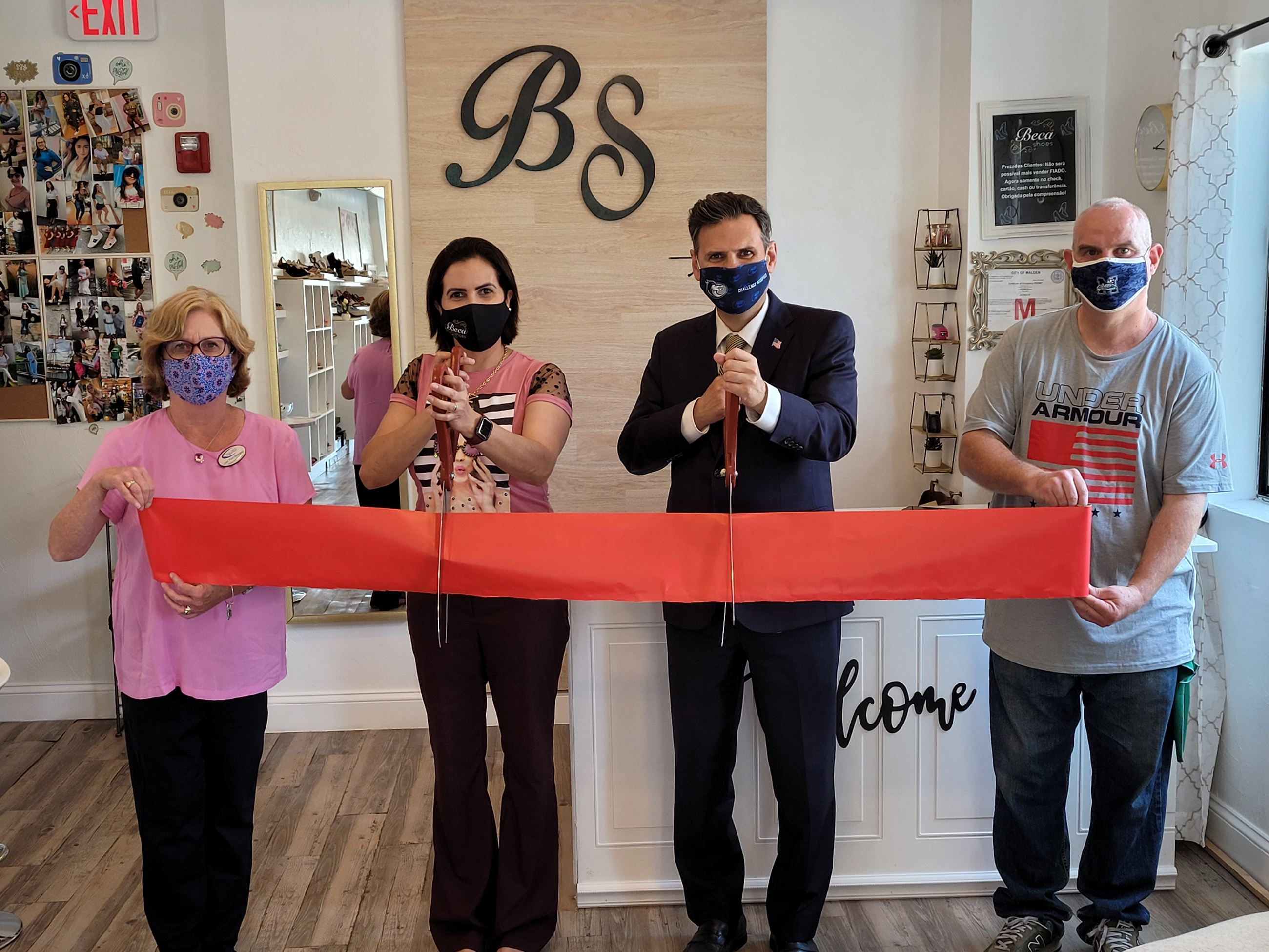 Beca Shoes Ribbon Cutting