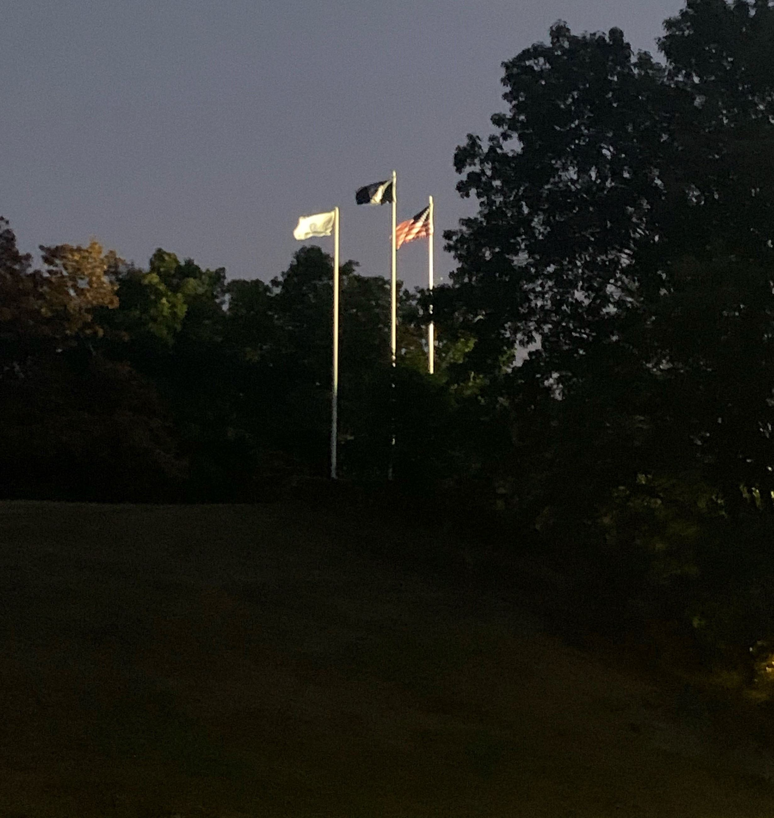 Flags at Fellsmere Pond