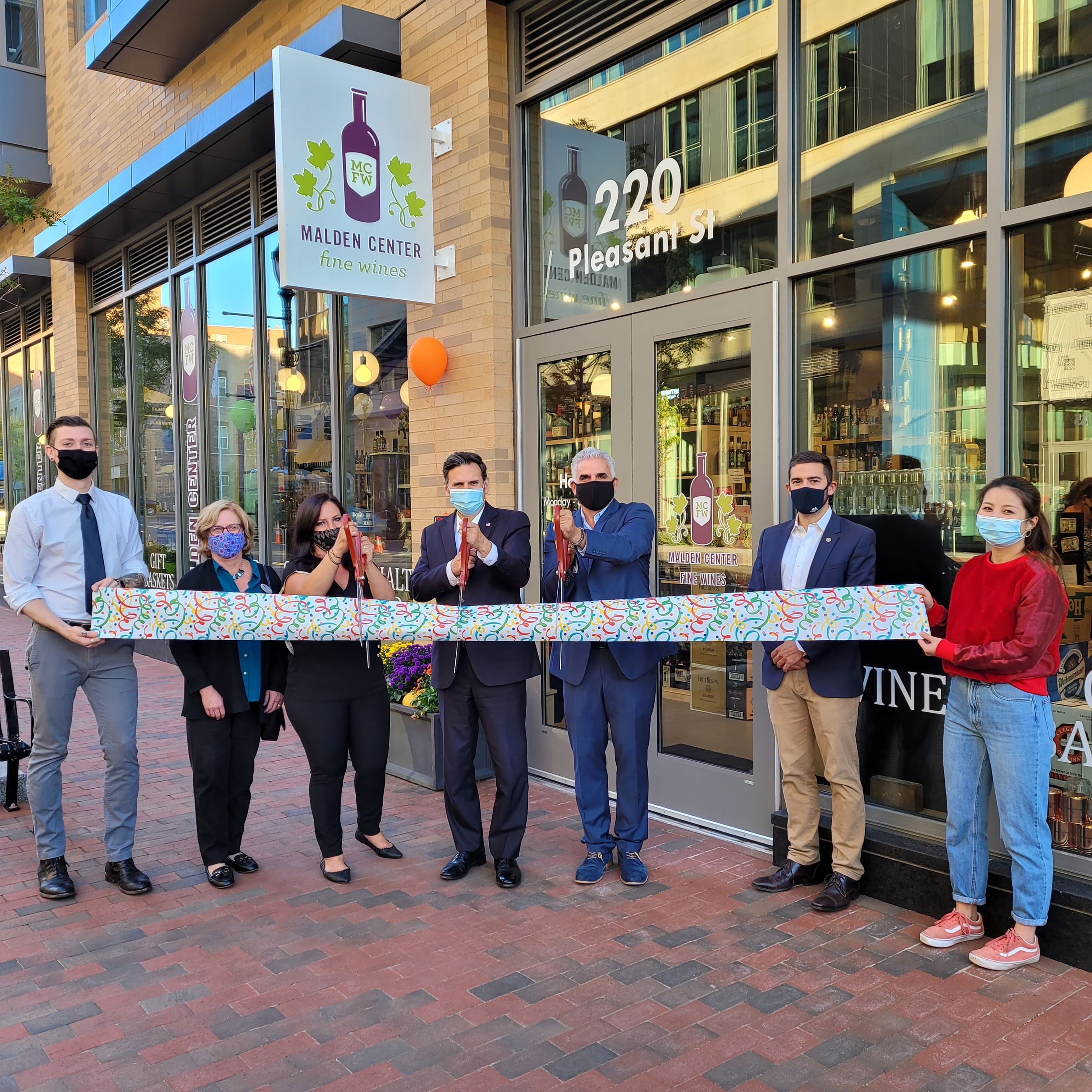 Malden Fine Wines Ribbon Cutting
