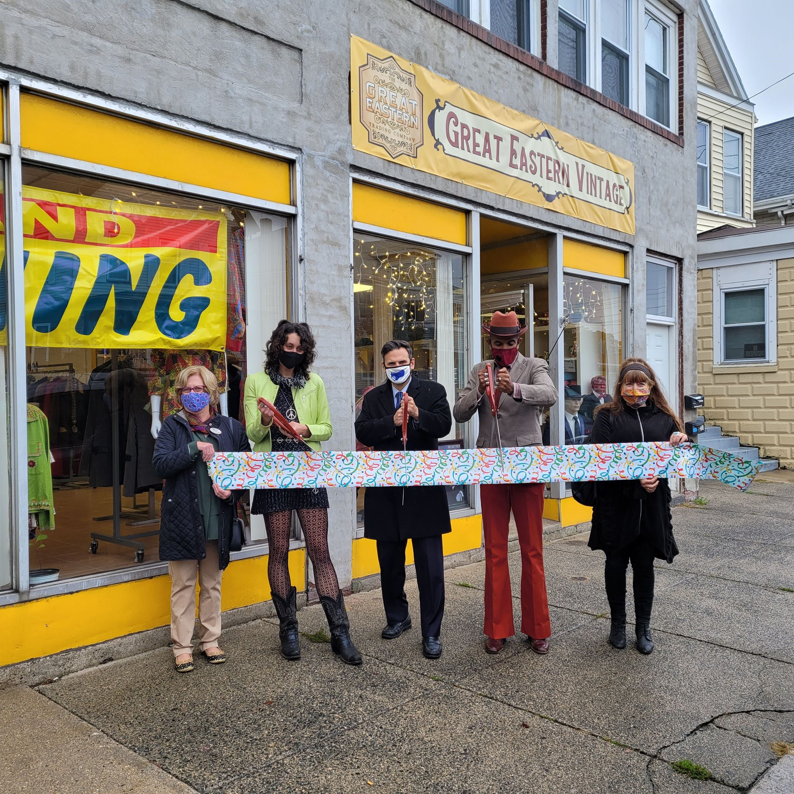 Great Eastern Vintage Ribbon Cutting