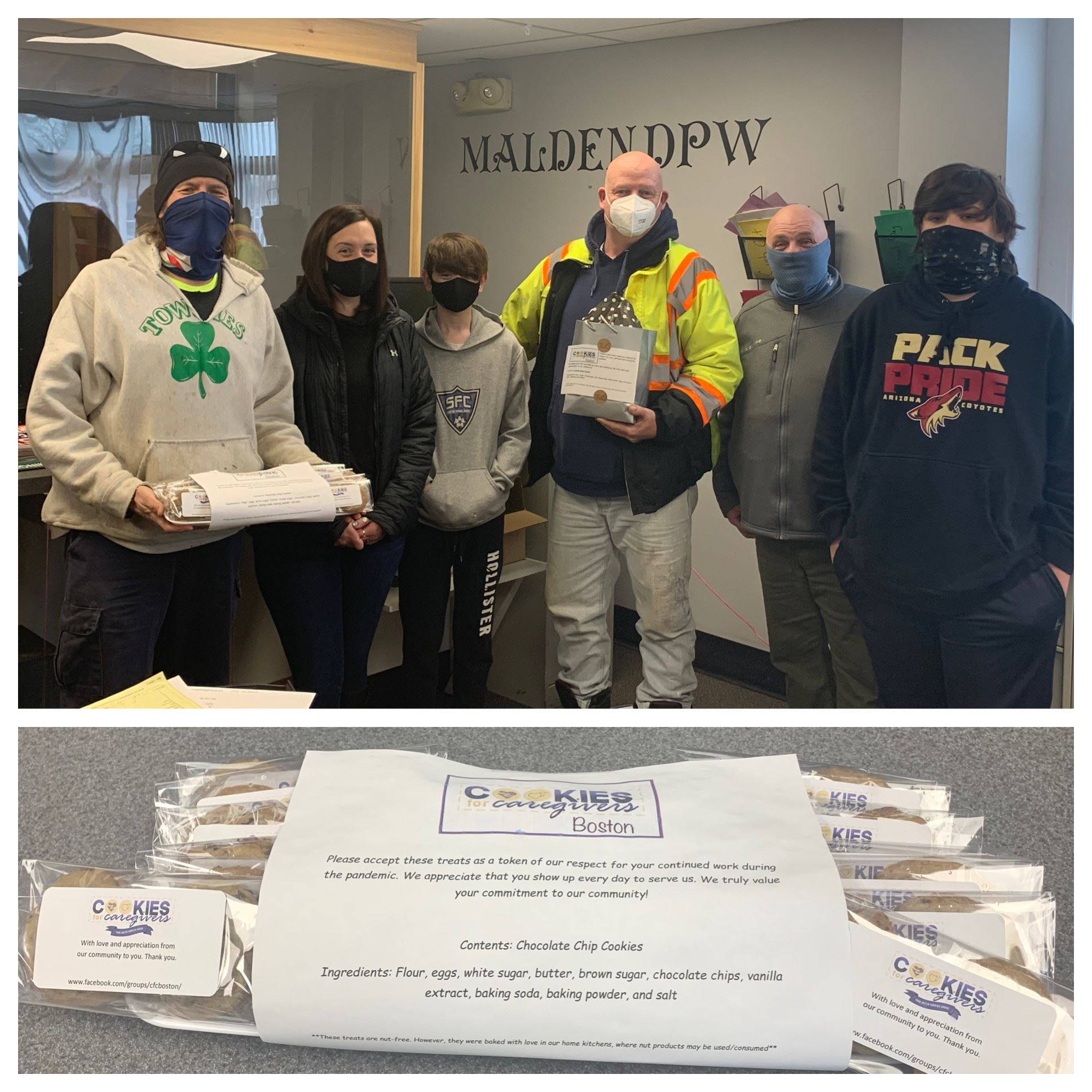 DPW Employees delivered cookies